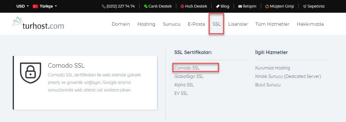 SSL - Comodo SSL