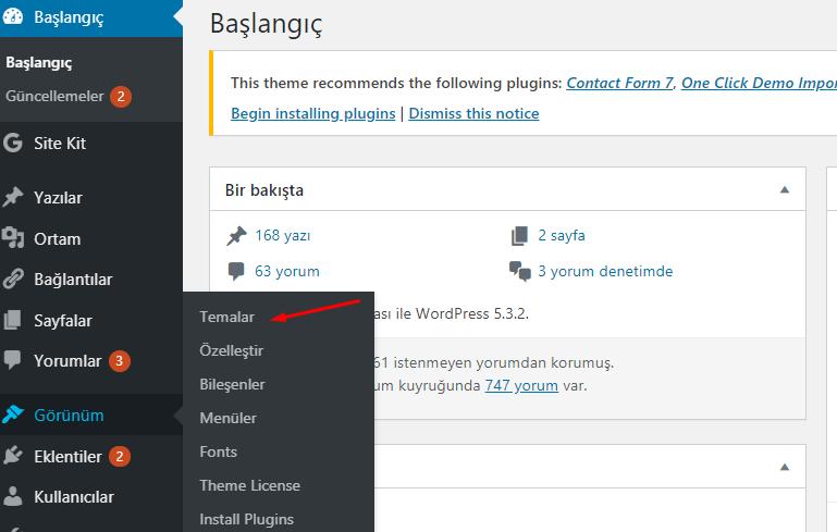 WordPress Teması Nasıl Yüklenir?