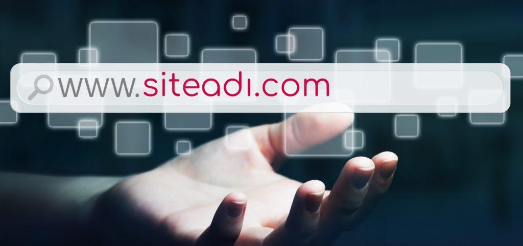 Web sitelerine girmek için adres çubuğuna yazdığımız siteadı.com şeklindeki adreslere domain yani alan adı denir.